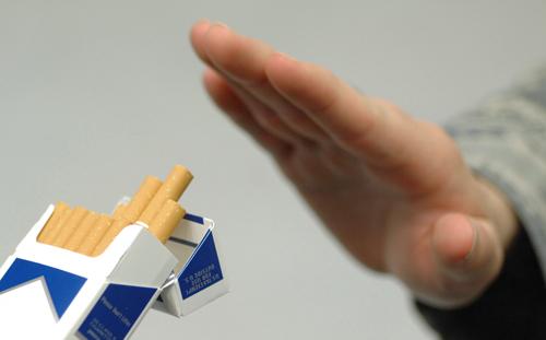 Ar fumante deixado