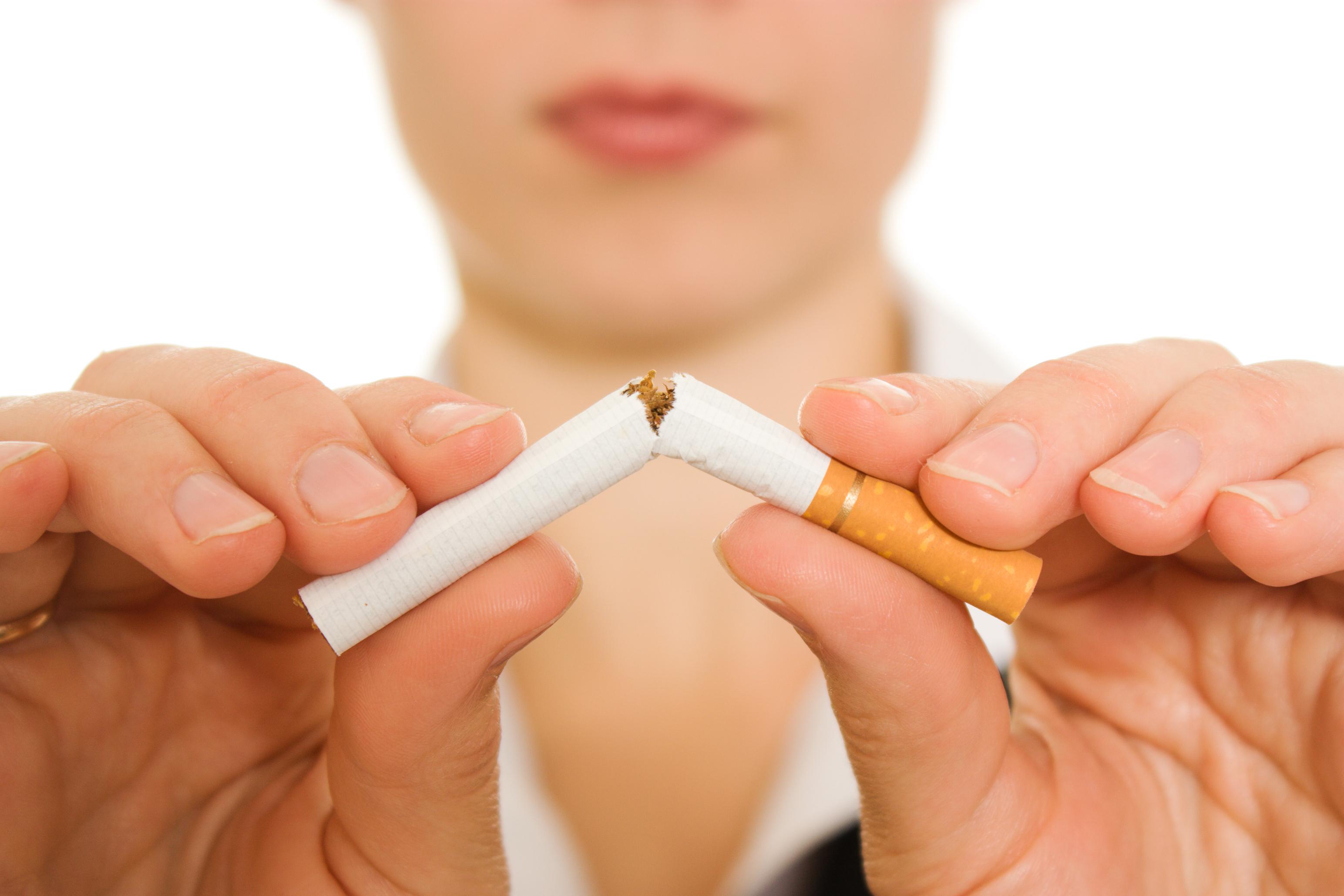 Fumagem deixada por causa de tosse